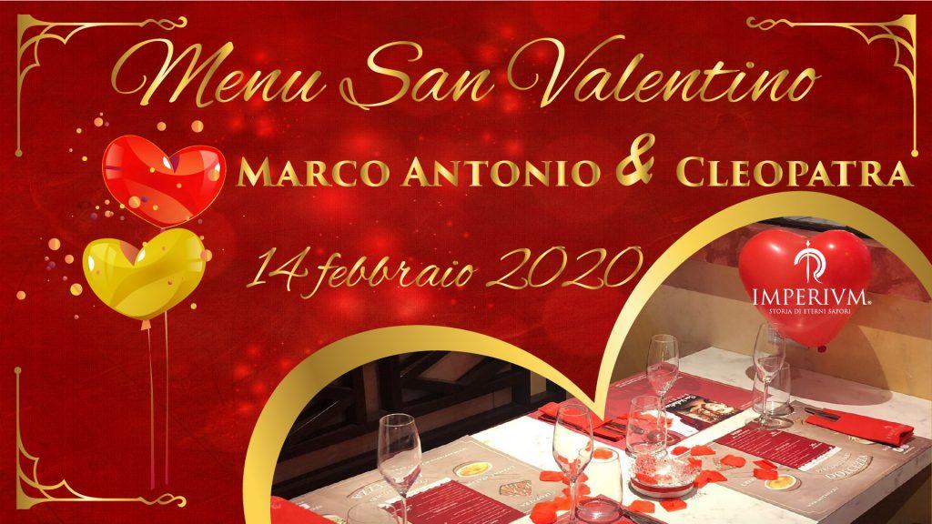 Menù San Valentino - Marco Antonio e Cleopatra - anteprima